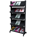 Mobile Literature Rack with Five Shelves, 33387
