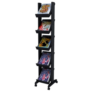 Mobile Literature Rack - Five Shelves, 33392