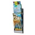 """Four Pocket Magazine Wall Rack - 9""""W, 33009"""