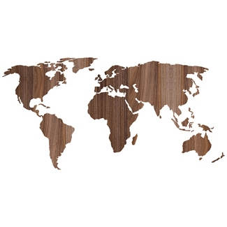 Wooden Look Worldmap Decal, 82511
