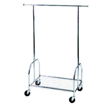 Double Sided Adjustable Mobile Garment Rack, 91449