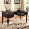 """Writing Desk with Leather Inlay Top - 60""""W, 14084"""
