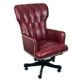 Wingback Tufted Leather Desk Chair, 55021