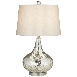 Table Lamp with Mercury Glass Body , 92065
