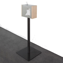 """Standing Tissue Dispenser with Wood Tone Sides - 42""""H, 82045"""