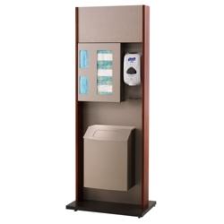 "Sanitation Station with Wood Tone Frame - 42""H, 82049"