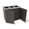 """Three Opening Waste and Recycling Station - 36""""W, 82052"""
