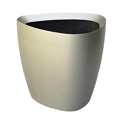 "Fiberglass Triangular Planter - 24""DIA, 82497"