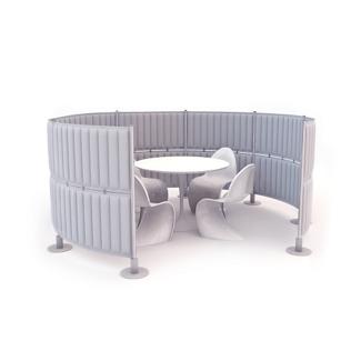 """Fourteen Panel Acoustic Divider - 49""""H, 21404"""