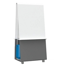 "Mobile Magnetic Dry Erase Easel - 36""W, 80566"