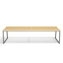 """Slat Armless Bench with Sled Base - 72""""W, 82491"""