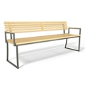 "Slat Bench with Sled Base - 72""W, 82492"