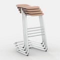 Bar Height Backless Stool, 50051