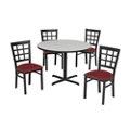 Grid Back Chair & Table Set, 44001