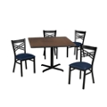 "Cross Back Chair and 42""W Table Set, 44033"