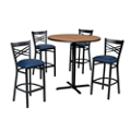 Cross Back Stool & Bar Table Set, 44053