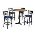 Cross Back Stool & Bar Table Set, 44053