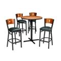"Circle Back Stools & 36"" Bar Height Table Set, 44054"