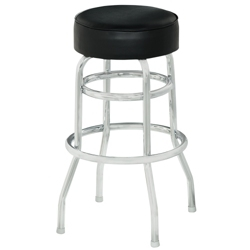 Vinyl Barstool with Chrome Frame and Foot Ring, 50858