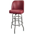 Vinyl Barstool with Black Frame and Bucket Back, 50863
