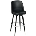 Vinyl Barstool with Four Legs and Bucket Back, 50864