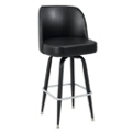 Large Vinyl Barstool with Four Chrome Legs and Bucket Back, 50866