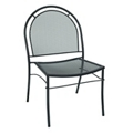 Armless Perforated Metal Outdoor Chair , 50900