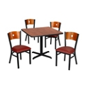 "Circle Back Chairs & 42""W Table Set, 44056"