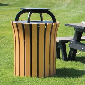 Capped Trash Receptacle - 33 Gallon Capacity, 82143