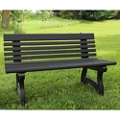 "Recycled Plastic Outdoor Bench with Back - 48""W, 82723"