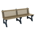 "Recycled Plastic Outdoor Bench with Back - 72""W, 82725"