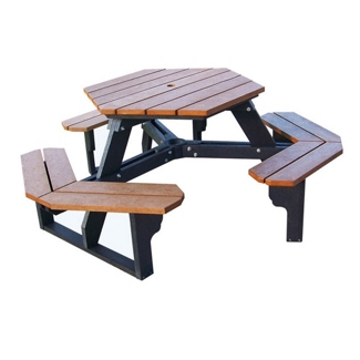 Recycled Plastic Hexagonal Picnic Table, 85161