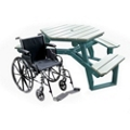 ADA Accessible Recycled Plastic Hexagonal Picnic Table, 85162