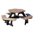 Recycled Plastic Hexagonal Economy Plaza Picnic Table, 85163