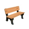 Recycled Plastic Traditional Outdoor Bench with Back 4', 85167