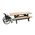 Double ADA Accessible Recycled Plastic Picnic Table, 85175