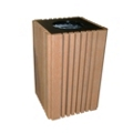 Recycled Plastic Outdoor Trash Receptacle 40 Gallon, 85183
