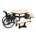 ADA accessible Standard Plaza Hexagonal Picnic Table, 85187