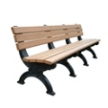 Outdoor Silhouette Bench-High Density Plastic 8', 85189