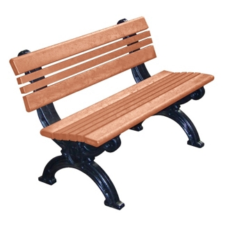 Outdoor Cambridge Bench High Density Plastic 4', 85312