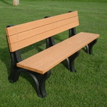 Deluxe Recycled Plastic Bench with Back 6', 85315