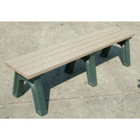 Wide Deluxe Recycled Plastic Flat Bench 8', 85318