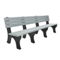 Deluxe Plastic Bench with Back 8', 85317