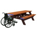 ADA Accessible Recycled Plastic Deluxe Picnic Table 8', 85321