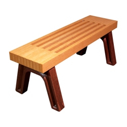 Elite Recycled Plastic Flat Bench 4', 85323