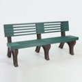 Elite Recycled Plastic Park Bench with Back 8', 85326
