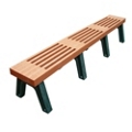 Elite Recycled Plastic Flat Bench 8', 85327