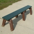 Landmark Plastic Recycled Backless Bench 6', 85330