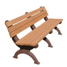 Monarque Armless Bench with Back 6', 85333