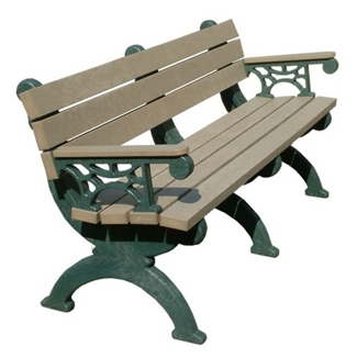 Monarque Bench with Arms 6', 85334